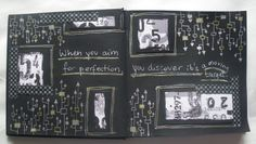 Art journal page - Perfection