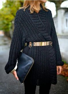 The Secrets Of The Little Black Sweater Dress