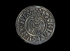 A coin of Anlaf (Olaf) III Guthfrithsson, King of Jorvik AD 939-941. The bird is either a raven or an eagle. The letters ANLAF CUNUNC ('King Olaf') are in the Old Norse language. Olaf III Guthfrithsson (died 941) was a member of the Norse-Gael Uí Ímair dynasty, was King of Dublin from 934 to 941. Gofraid ua Ímair, his father, held both Dublin and York until Athelstan of England expelled him from York in 927.