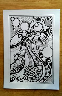 Zentangle by Paul I like the overlay circles MS.Love the combination of thick and thinner lines and the shading/textureFrom Flikr, missing creditVery cool abstract pen and ink.Zentangles (and Doodles) Zentangle Drawings, Doodles Zentangles, Doodle Drawings, Doodle Patterns, Zentangle Patterns, Art Patterns, Zen Doodle, Doodle Art, Drawn Art
