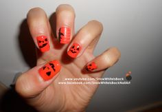 A very easy and cute Halloween nail art. By SnowWhiteIsBack.  Follow me on Instagram @ snowwhiteisback
