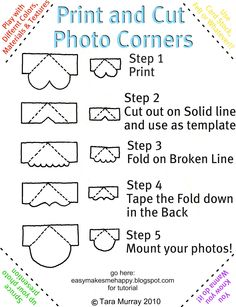 EASY: Print and Cut Photo Edges