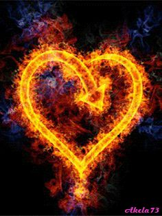 Amazing Burning Hearts Gif Images - Best Animations