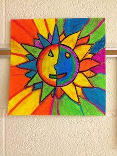 grade aztec sun stone project adult art classes, back to school art, th Back To School Art, Art School, School Ideas, Adult Art Classes, Warm And Cool Colors, Earth Tone Colors, Sun Art, Aboriginal Art, Recycled Art