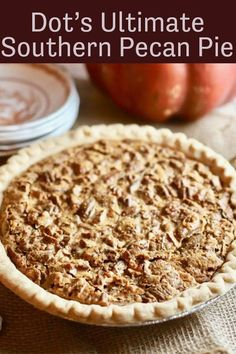 Dot's easy, make-ahead Ultimate Southern Pecan Pie is chock-full of sweet crunchy pecans, and the light caramel custard filling is out of this world delicious! Pecan Recipes, Pie Recipes, Dessert Recipes, Easy Recipes, Southern Pecan Pie Recipe, Southern Food, Southern Style, Pecan Pie Cheesecake, Pecan Cake