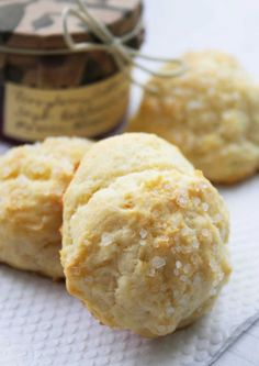 Breakfast at Tiffanys Cream Drop Scones - With their crystalline, sugared tops, these petite scones are by far the easiest scones you'll ever make from scratch – there is no cutting in of butter, no patting and cutting of dough; all you do is stir together the flour, baking powder and cream and drop in spoonfuls onto your baking sheet