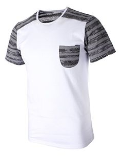 FLATSEVEN Mens Pocket and Sleeve Striped Crew Neck Casual T-Shirt (T125) White, M FLATSEVEN http://www.amazon.com/dp/B00KXUA63S/ref=cm_sw_r_pi_dp_z3nlub117Q7BK