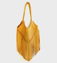 Sierra Fringe Leather Tote Bag | Steeped in southwestern influence, this rock and roll fringe l... | Handbag & Wallet Accessories