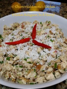 CHICKEN KELAGUEN! Guam's version of a chicken salad, with it's tangy lemon flavor and spicy peppers; it's sure to make your mouth water. Usually served at Chamorro gatherings, …