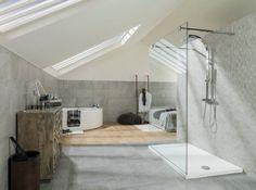 Salle de bains porcelanosa dans chambre