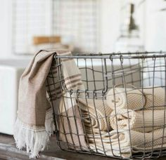 This vintage inspired wire storage basket is a great place to store just about anything! This vintage inspired wire storage basket is a great place to store just about anything! Perfect for under shelf storage in the home or in the potting shed Metal Wire Basket Storage, Wire Storage, Wire Baskets, Under Shelf Storage, Storage Shelves, Storage Ideas, Unique Home Decor, Vintage Home Decor, Latte