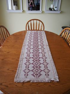 Gold and Red Table Runner