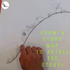 Draw a story map to help learn the story! Map Nursery, Nursery Rhymes, Billy Goats Gruff Story, Nursery Stories, Story Sack, English Phonics, Traditional Tales, Third Grade Science, Transportation Theme