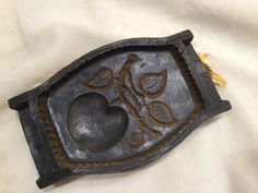 Vintage German Wax Mold Wachmodel Lebensbaum APPLE OR CHERRY LEAVES Plaque Mold