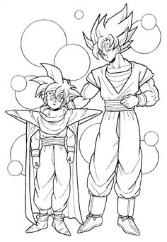 23 Best Dragon Ball Z Coloring Pages images in 2015 ...