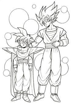 Dragon Ball Z Goku Son Gohan Son Embrace