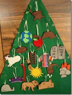 Our handmade Jesse Tree