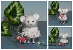 HandMade by Elena Nikitina Funny Mouse, Cute Mouse, Crochet Toys Patterns, Stuffed Toys Patterns, Felt Animals, Crochet Animals, Worry Dolls, Crochet Mouse, Felt Mouse