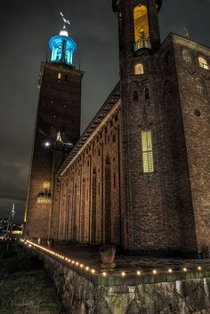 Stockholm City Hall is the building of the Municipal Council for the City of Stockholm in Sweden. It stands on the eastern tip of Kungsholmen island, next to Riddarfjärden's northern shore and facing the islands of Riddarholmen and Södermalm.