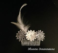 Hair Fascinator/Comb - The Supermums Craft Fair www.facebook.com/FlowersForevermore