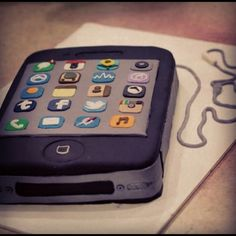 iPhone Cake - #cakeoutsidethebox #iPhone #apple #fondant #cake #sweets #birthday #party #themes #custom #design #buttercream