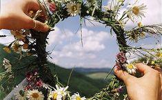 view & flower crown