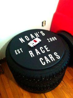 tyre storage toy cars