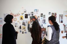 Group moodboarding exercise. Define Your Signature Style Workshop, London