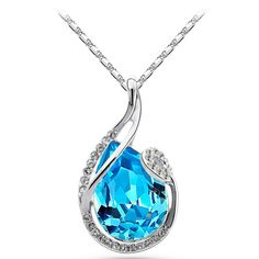 G046 Fashion crystal jewelry 4 colors drop elegant luxury necklace