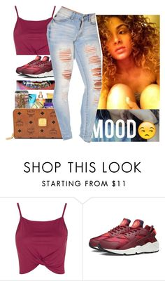 """OOTD"" by non-basicbz ❤ liked on Polyvore featuring Topshop and NIKE"