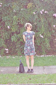 Vestido estampado Antix + Oxford = amor