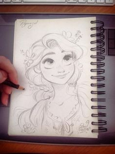Quick Disney's Rapunzel sketch by princekido.devian… on Quick Disney's Rapunzel sketch by princekido.devian… on – Disney Crafts Ideas Disney Rapunzel, Rapunzel Sketch, Arte Disney, Disney Art, Rapunzel Drawing, Disney Princesses, Tangled Rapunzel, How To Draw Rapunzel, Drawing Faces