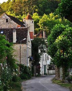 The medieval village of Noyers sur Serein, Yonne, Burgundy, France