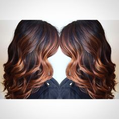 Copper balayaged ombre More