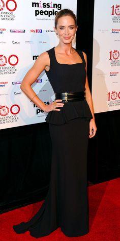 Zoomed Emily Blunt at London Critics' Circle Awards