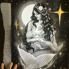 Breastfeeding mermaid
