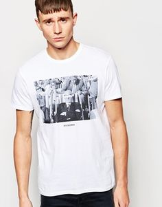 Ben Sherman T-Shirt with Ray Jones Photo Print