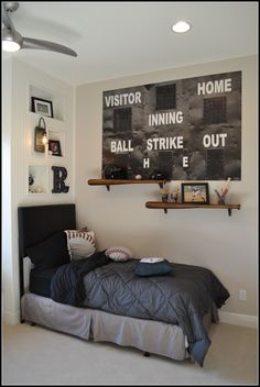 Baseball Themed Bedroom >>> Check out the image by visiting the link. #homedecordesign