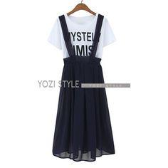 Set: Printed T-Shirt + Jumper Skirt from #YesStyle <3 YOZI YesStyle.com