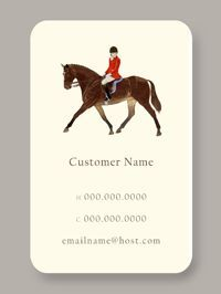 Red Rider | Personal Calling Cards for the equestrian to  place on the silver tray in the entry hall of the country house.