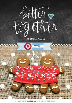 2-headed Christmas Sweater - the cookie version! #funny #holiday #TOMSforTarget