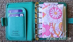 My Pocket Filofax set up as a Purse / Wallet - Filofax Friday - More pictures and details on the blog: mrsbrimbles.blogspot.com