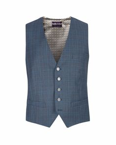 Check waistcoat - Blue | Suits | Ted Baker