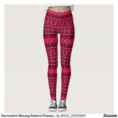 Decorative Hmong Pattern Fitness Leggings