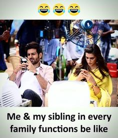 and somehow one of our phones always die before arriving and one of us are laughing at the idiot and that idiot is looking at the phone cuz BORED. Latest Funny Jokes, Very Funny Memes, Funny School Memes, Some Funny Jokes, Funny Relatable Memes, Sister Quotes Funny, Best Friend Quotes Funny, Cute Funny Quotes, Fun Quotes