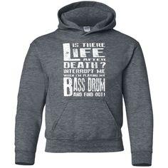 Don't Interrupt Me Bass Drum Kids Hoodie