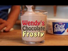 ▶ Wendy's Chocolate Frosty - 3 Ingredient Clone Recipe! - YouTube