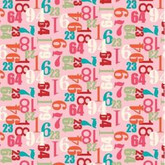 Little Numbers in pink
