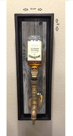 Junior Brass Wall Mount Liquor Dispenser by PRIMOBARS on Etsy