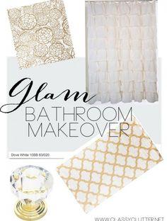 Glam Bathroom Makeover